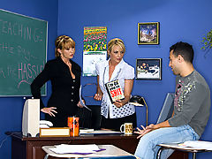 nice boobs, Sindy Lange, Roxy Anne & Mikey Butders as Sexy Teacher
