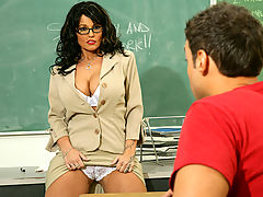 nice cleavage, Sunshine Seiber & Rocco Reed as Sexy Teacher