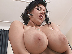Fat Busty Movies, Big, bouncy-breasted Kora toys and poses for you
