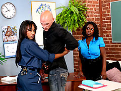 Bouncing Boobs, Panther, Vivica Coxx & Johnny Sins as Sexy Teacher