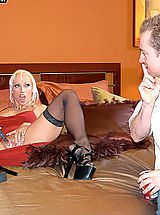 Content of Nicki Hunter - Nicki Hunter was doing a video shoot for us, 413 Productions, in our new studio. Our graphic designers were having a tough time trying to work with all the moaning in the background so Ryan decided to be a generous boss and...