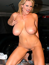 Busty Latina, Kelly gets picked up off the side of the road and bangs her puss in the back of a truck.