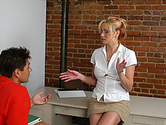 Ms. Leigh & Sergio as Sexy Teacher