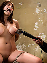 Fetish Pics: Big titted 19 year old, gets tied up and made to cum.