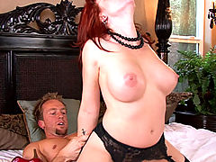 Beautiful Brittany O'Connell gets fucked into submission while wearing sexy black and red lingerie.