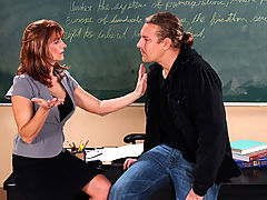 Bigtits Officesex, Trisha Lynne & Jerry as Sexy Teacher