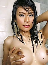 Asian Women wanda tai 14 shower vagina