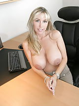 Busty Housewives, Hot Wifey as Boss Lady