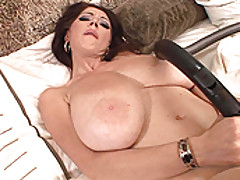 DDF Beauties, Big boobed Merilyn plays with herself in a maid uniform