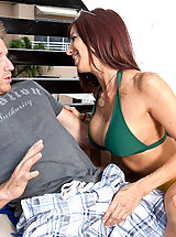 Busty Mature, Lucky guy cools off with his friends hot mom