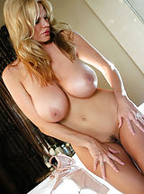 nice titis, Kelly uses an electric massager to get her hot and heavy before fucking a big cock.
