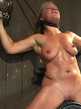 Amateurs Pics: Dia Zerva and Ariel X on sybians with severe nipple bondage. Bondage sluts are flogged heavy and whipped hard. Nipples cinched tight during orgasms.