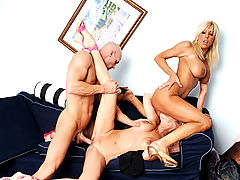 nice cleavage, Misty Vonage, Bridgett Lee & Johnny Sins in Fucking Hot Moms