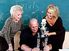 Bouncing Boobs, Mrs. Jewell, Erica Lauren & Christian as Sexy Teacher