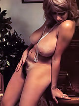Vintage Pics: Check out this busty vintage porn star showing her monster boobs & hairy pussy today on the gal of VintageCuties