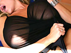 Busty Teen Movies, Kelly wears a see thru top and begs to get fucked outside.