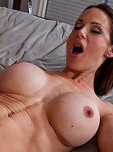 tits nice, Hot brunette MILF loves to swallow cock and take a good fucking.