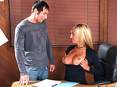 Bigtits Officesex, Val Malone & Joey Brass as Sexy Teacher
