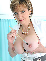 Stunning british busty mature nurse