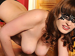 Big.Tits Vids: Babe Flirts Through Her Mask