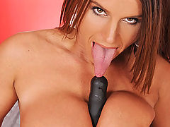 Black Busty Movies, Busty brunette MILF Sexy Susi toying her horny wet pussy