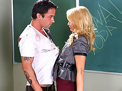 Bouncing Boobs, Monique Alexander & Alan Stafford as Sexy Teacher