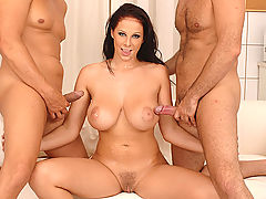 Nurse Gianna enjoys a threesome with two hard doctor dicks