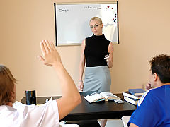 Bigtits Officesex, Adrianna Nicole as Sexy Teacher