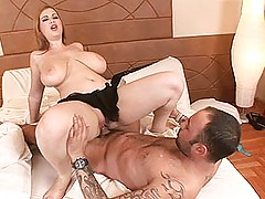 Busty Babes, See busty Terry Nova riding & tit fucking a cock