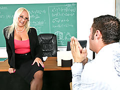 Bigtits Officesex, Alexis Golden & Danny Mountain as Sexy Teacher