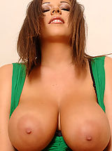 Sexy Busty, Hot busty Rye stripteasing for you showing pussy