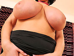 Breasts Movies, Lola showing & pinching her enormous natural H-cup breasts!