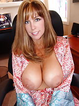 Busty Housewives, Big Natural Sissy in the office