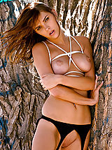 Hard Nipples, Hot babe Meggan Mallone gets tied and teased!