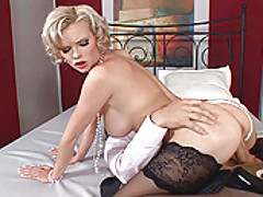 Babes Vids: Busty blond babe Tarra White in hot anal hardcore scene