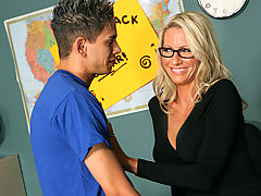Bouncing Boobs, Emma Starr & Zane as Sexy Teacher